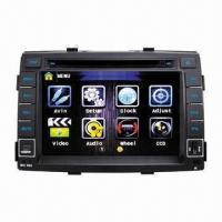 China 8-inch In-dash Car DVD Player for Kia Sorento (2009-2012), Supports GPS, Bluetooth and iPod wholesale