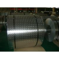 China 4 mm Roll Aluminum Checkered Plate , Steel Diamond Plate Sheets For Bus wholesale