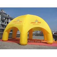Quality 20ft Yellow Inflatable Dome Canopy Tent for sporting events with CE blower for sale