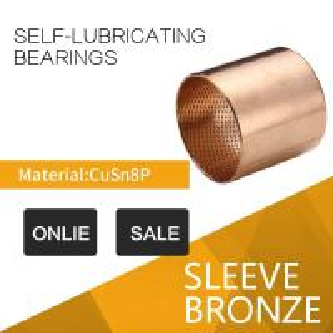 China CuSn8 / CuSn6 Tin Bronze Bushings Diamond & Ball Shaped Indents Self Lubricating Oil indentation wholesale