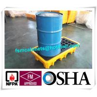 China Steel Spill Decks Containment Pallets 2 Drums / 4 Drums Removable With Drain wholesale