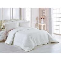 China 100% Cotton 60 * 40S 300TC Hotel Bedding Set White Color King Size Plain Style wholesale