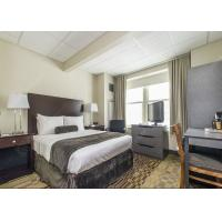China Modern Grey Hotel Bedroom Furniture Sets Solid Wood Comfortable Environment - Friendly wholesale