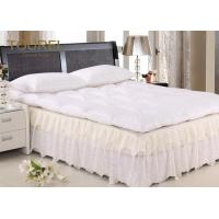 China Quilted Double Mattress Protector 100% Polyester White 72 Inch X 78 Inch wholesale