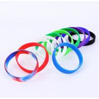 China Presents Silicone Rubber Bracelets , Personalised Silicone Wristbands Elastic wholesale