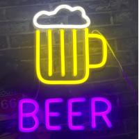 China Beer Neon Signs for Man Caves Neon Beer Lights Personalised BEER Neon Light Sign wholesale