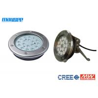 China Cree 316 Stainless Steel Pool Lamps Underwater Led Lighting For Fountains wholesale