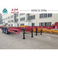 China 40 Foot Container Trailer , Tri Axle Skeletal Trailer For Cold Chain Transport on sale