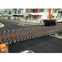 Buy cheap Professional Manual Security Crowd Control Gate With Solar Panel LED from wholesalers