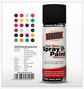 China Aeropak  aerosol can 400ml 10oz spray paint with all colors acrylic wholesale