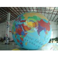 China Custom 5m PVC Durable Inflatable Globe Ball Helium For Tade Show wholesale