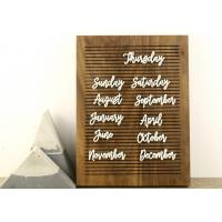 China Non Black Felt Menu Letter Board Solid Oak Wooden Message Board with Stand wholesale