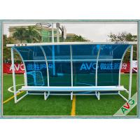 Buy cheap Football Subs Bench Soccer Field Equipment For Outdoor 8 Seat Team Shelter from wholesalers