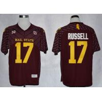 China Mississippi State Bulldogs Tyler Russell 17 College Football Techfit Jerseys wholesale