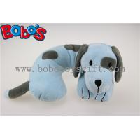 China Softest Baby Neck Pillow Plush Stuffed Blue Dog Travel Neck Support wholesale