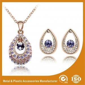 China Ladies Eye Shape Zinc Alloy Jewelry Sets Earrings And Necklace Set wholesale