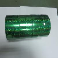 China 22mm x  50Y Green Laser Ribbon Roll In Holographic Materials Used Bird Frighten wholesale