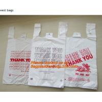 China Custom Print Hdpe Plastic T Shirt Bags with Gusset, hdpe bags, ldpe bags, pp bags, sacks wholesale
