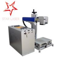 China Blue 10W Fiber Laser Marking Machine , Pipe Laser Marking Engraving Machine wholesale
