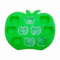 China Silicon Apple Ice Tray, Made of High-quality Silicone, FDA and LFGB Approved, OEM Designs Welcomed wholesale