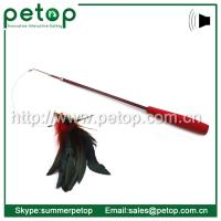 Retractable bird feather cat teaser wand toy of ec91103744 for Retractable cat wand