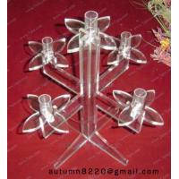 China CH (32) twisted Acrylic candle holder wholesale