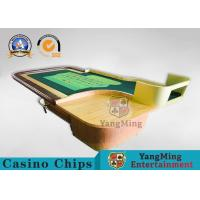 China Casino Roleta Poker Table Asia Market Popular Poker Table Poker With Wooden Roulette Wheel wholesale