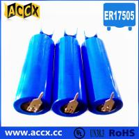 China 3.6v lithium battery ER17505 3500mAh with two pins wholesale