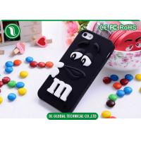 China Red M&M 3D Silicone Phone Cases Apple iPhone 5S Back Cover OEM wholesale