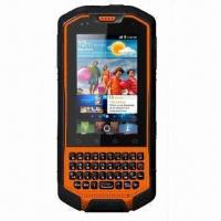 China Rugged 3G Touchscreen Smartphone with Walkie Talkie, Dual SIM, Android OS and IP67 Waterproof Grade wholesale