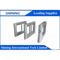 China AC 220V Led Electrical Flap Barrier Gates With Infrared EKS Protection wholesale