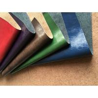 China Genuine Leather Fabric with natural leather composition and pu coating wholesale