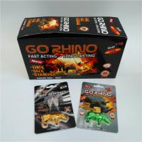 China Plastic Pill Bottle Capsule Blister Card Packaging Go Rhino Gold 3D Complete Set wholesale