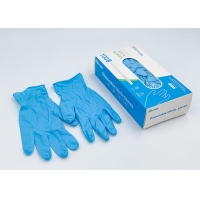 Buy cheap Blue Non-Medical Powder Free Examination Disposable Nitrile Gloves from wholesalers