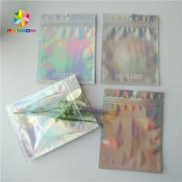 Quality Three Side Sealed Cosmetic Packaging Bag Laster Film Material Glossy Varnish Surface for sale