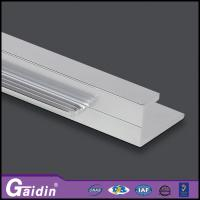 China aluminum extrude recessed CNC curved woodgrain anodized/powder coating kitchen cabinet shower door handle profiles wholesale