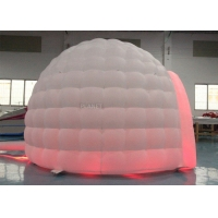 China Colorful LED Light Giant Inflatable Igloo Dome Tent With Tunnel Entrance wholesale