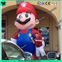 China Event Advertising 5m Giant Inflatable Mario Cartoon Inflatable Mario Mascot wholesale