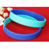 China Light Weight Custom Silicone Rubber Wristbands Multi Colors Segmented wholesale