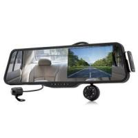 China Car Rearview Mirror with Front and Rearview Camera and Built-in 5 Inch Monitor - Bluetooth, 720p Recording wholesale