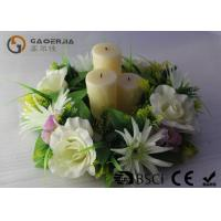 China Flickering Flame Led Wax Candle , Advent Wreath Votive Candles Multi Color wholesale