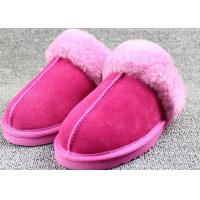 China Customized Winter Sheep Wool Slippers For High Class Apartments / Hotels on sale