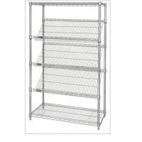 China Slanted Display Angled Metal Shelf Easier For Customer to See & Access Items wholesale