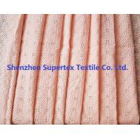China 60S Pink Print Cotton Voile Lattice Eyelet Embroidery Fabric for Garment 75GSM wholesale