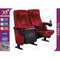 PP Outer Back Fabric Black Plastic Shell Cushion Theater Chairs For Stadium