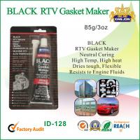 China Black Gasket Maker Waterproof Silicone Sealant / High Temperature Silicone Glue  wholesale