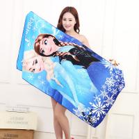 China small MOQ custom design print microfiber beach towel microfiber bath towel on sale