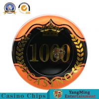 China Two - Tone Sticker UV RFID Casino Chips High Transmittance Acrylic Material 14g wholesale