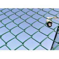 China Sports Field / Tennis Court 75x75mm Chain Link Mesh Fence 9 Gauge wholesale