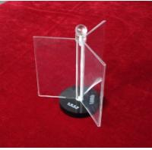 China 3 Page Rotatable Acrylic Menu Holder A4 Menu Display Stands wholesale
